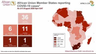 فيروس كورونا: أعداد حالات كوفيد-19 في أفريقيا محدثة بتاريخ 5 أغسطس 2020
