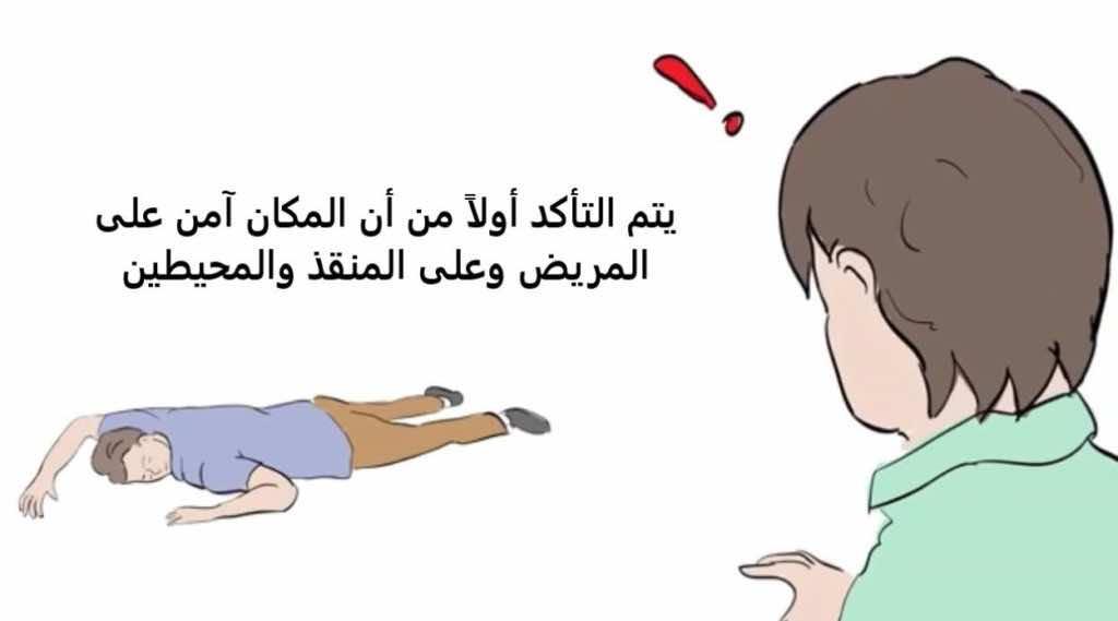 """خطوات""""الإنعاش القلبي الرئوي باليدين وحدهما"""" (Hands only CPR).صورة رقم 1"""