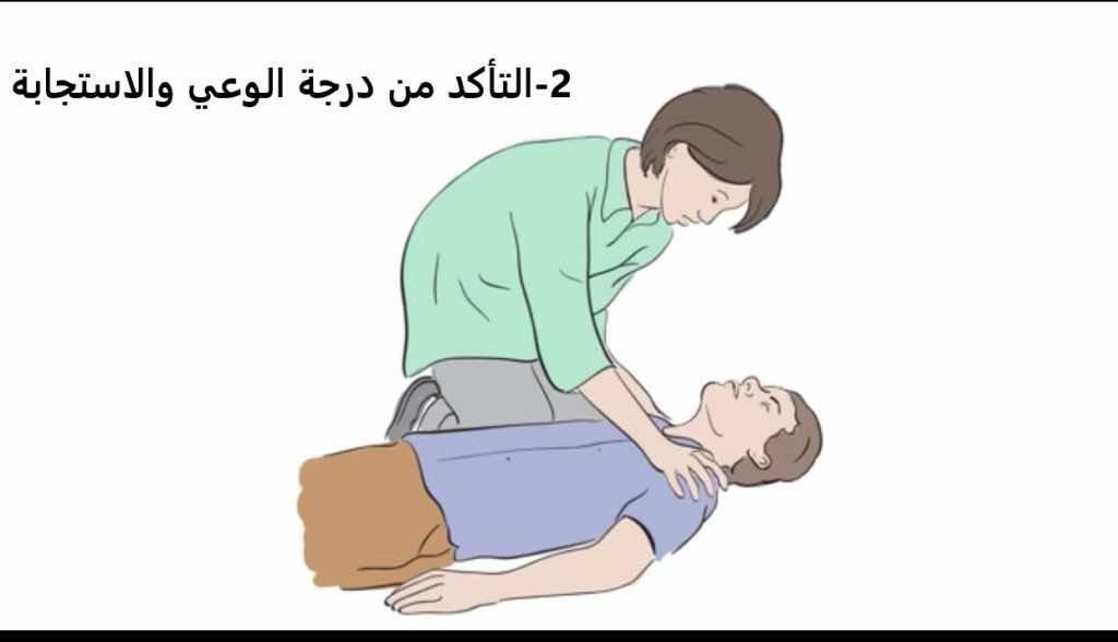"""خطوات""""الإنعاش القلبي الرئوي باليدين وحدهما"""" (Hands only CPR). صورة رقم 2"""