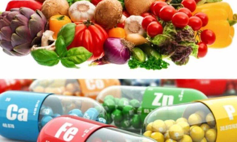 المكملات الغذائية (حبوب الفيتامينات والمعادن) عقاقير لها خطورتها.. فما هي المصادر الطبيعية؟