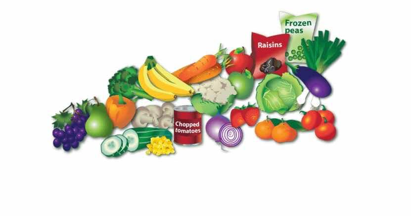 تناول الكثير من الخضروات والفاكهة..