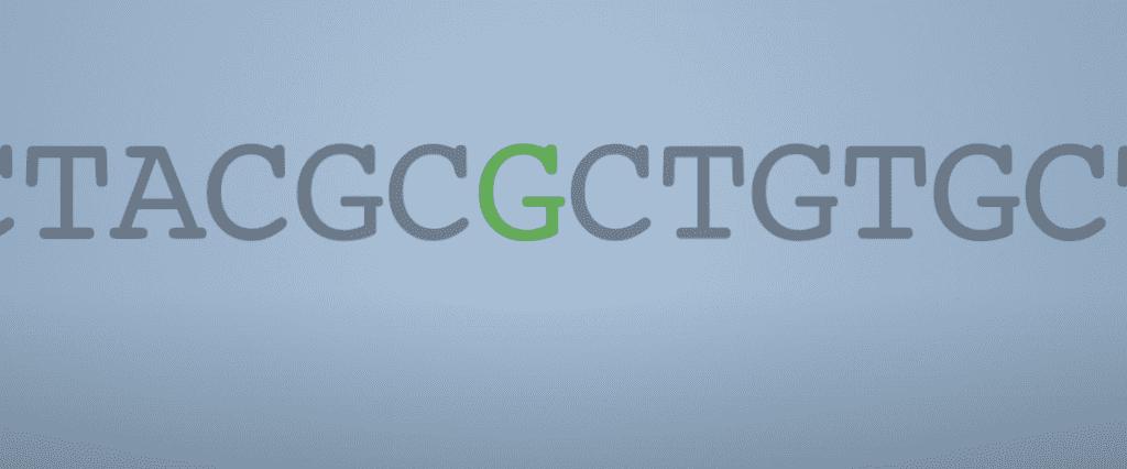 يمثل الرمز باللون الأخضر ضمن الرموز الرمادية الشكل الأحادي النيكليوتيده