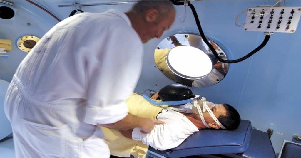 غرف هايبرباريك (العلاج بالأكسجين عالي الضغط)